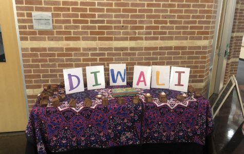 Diwali decorations in the Upper School. Photo by Spencer Jacobs.