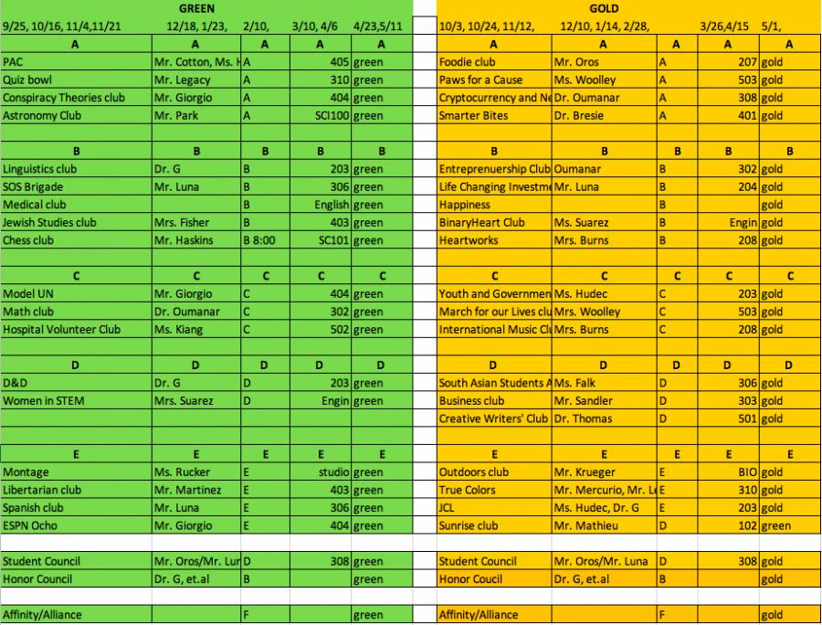 Club+Schedule