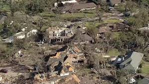Tornado damage in Dallas. Photo courtesy of NBC news.