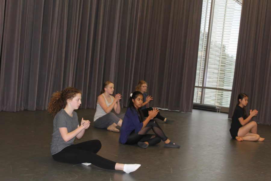 Middle School dancers perform. Photo by Alyssa Miller.