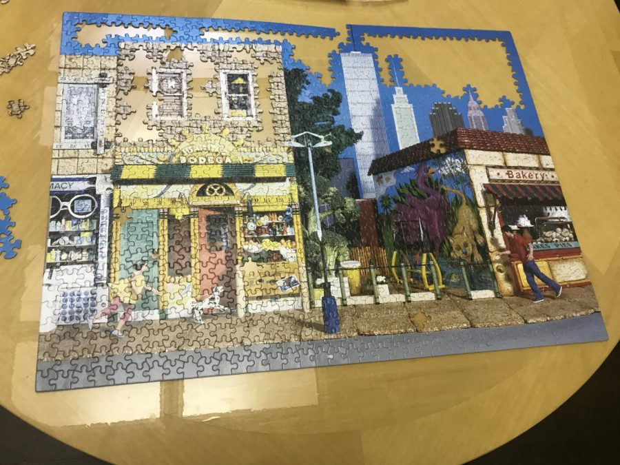 Hallie Sternblitz, a current sophomore has been working on some puzzles to keep herself busy.