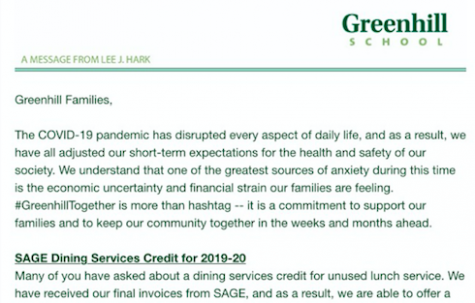 In late April, Lee Hark sent out this email to Greenhill families outlining the new policy for SAGE.