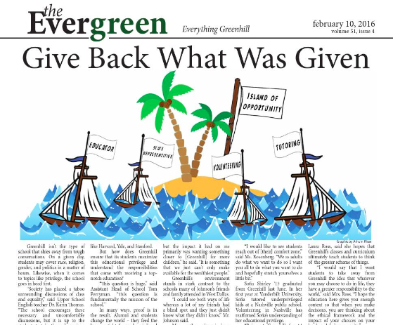 February 2016 Evergreen Print Edition.