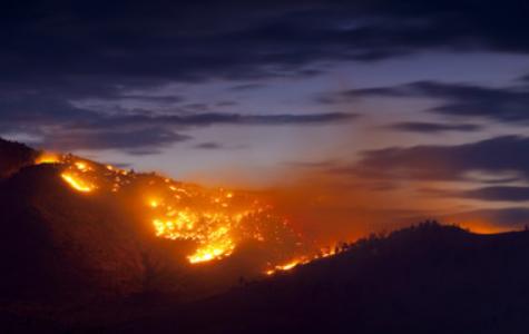 California wildfires ravage the area.