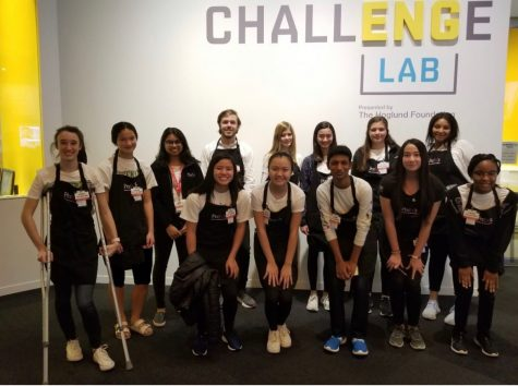 Last year, Upper Schoolers led by the Community Service Board volunteered at the Perot Museum.