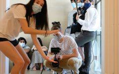 Jessica Herlitz works on her film for AVP.
