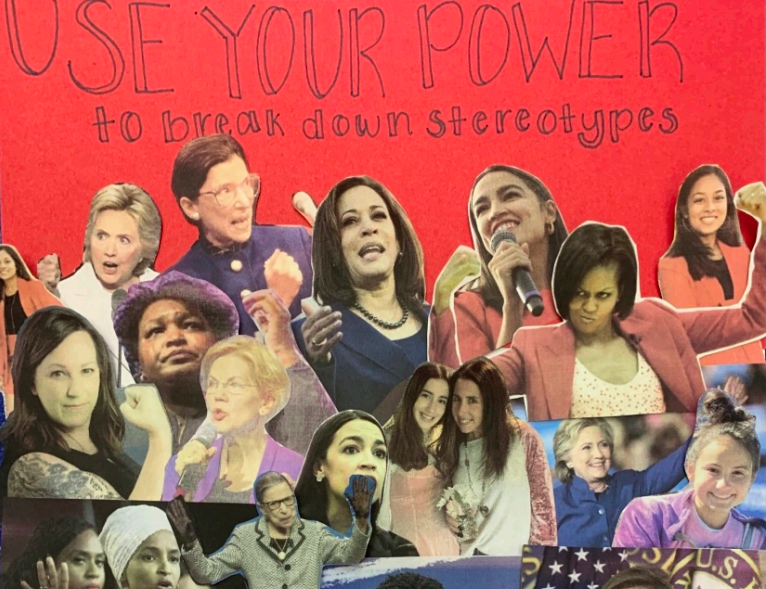 Women's writing class makes zines about feminism.