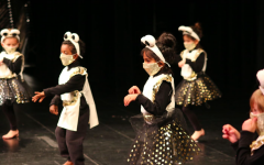 Students dressed up as mice dance in the annual Nutracker performance.
