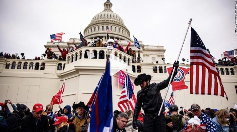 The riots at the Capitol. Photo from cnn.com.